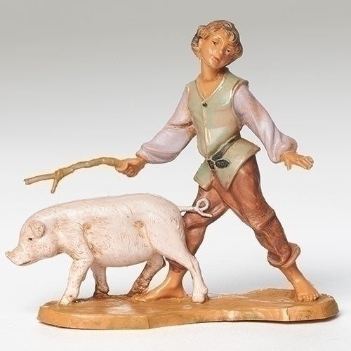 "BOY - 5"" SCALE CLEMENT  BOY W/PIG"
