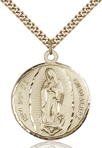 Our Lady of Guadalupe Necklace Gold Filled 24""