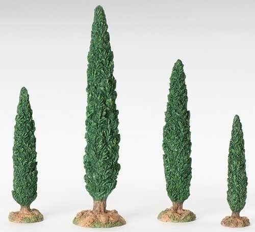"CYPRESS TREE 10""H 4 PC SET"