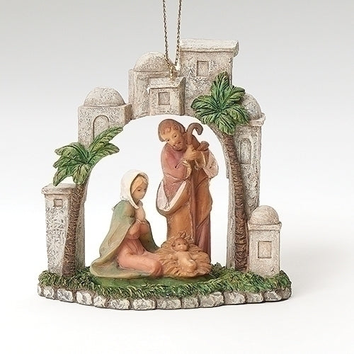 "HOLY FAMILY- 3.5""H ORNAMENT"