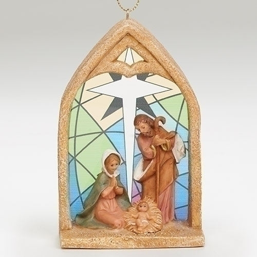 "HOLY FAMILY 4"" ORNAMENT"