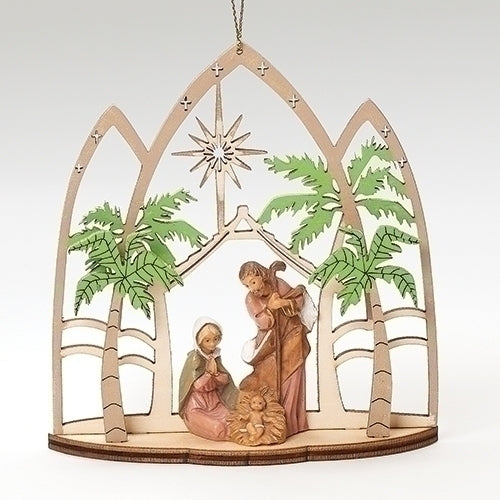 "HOLY FAMILY ORNAMENT 5""H"