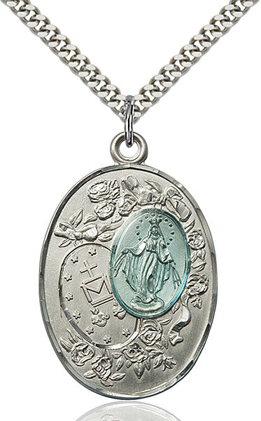 Miraculous Medal Sterling Silver