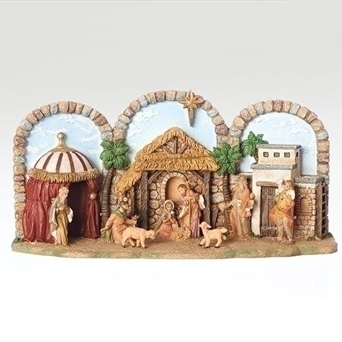 "NATIVITY - 5""H X 12""W MUSICAL NATIVITY"