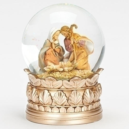 "MUSICAL HOLY FAMILY DOME 5.5""H"