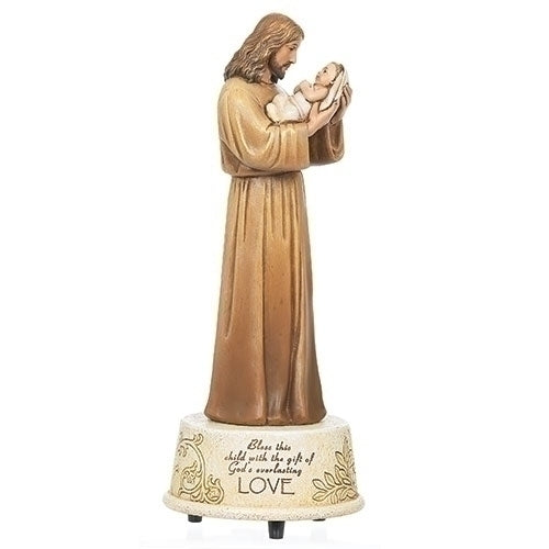 "Jesus Loves Me Musical Wind Up 8.75""H"