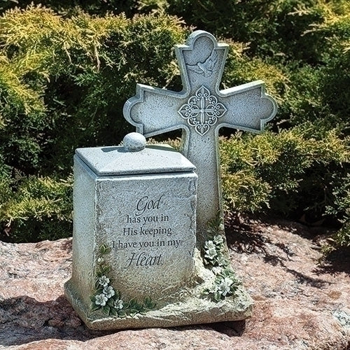 "Memorial Box with Cross and Verse 14""H"