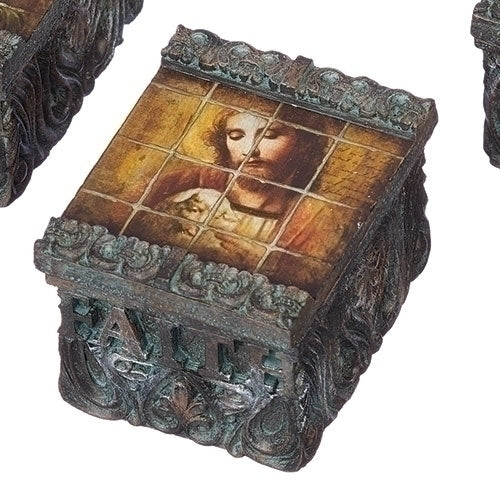 "1.5""H TILE ART JESUS & LAMB"