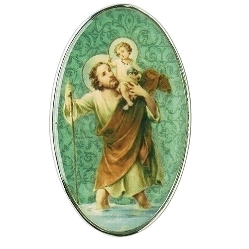 "CHRISTOPHER - ST CHRISTOPHER VISOR CLIP 2""H"