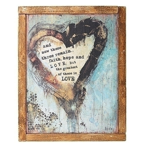 "HEART PLAQUE 15""H"