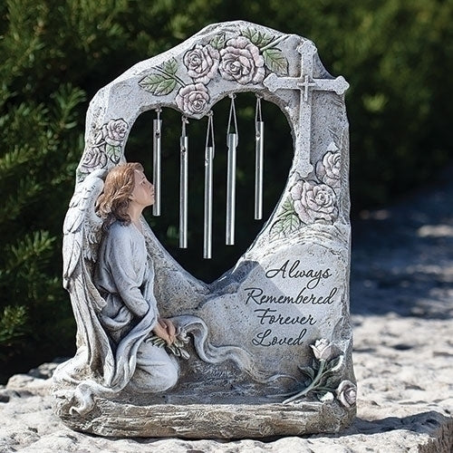 "Memorial Angel Garden Chime 11.25""H"