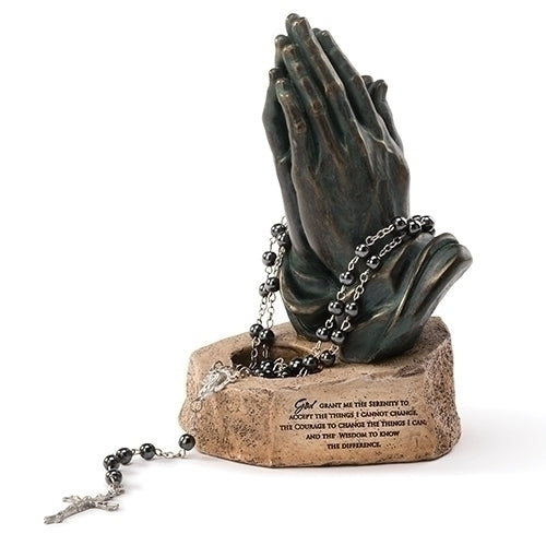 "Rosary Holder - Tabletop Rosary Holder 6.25""H"