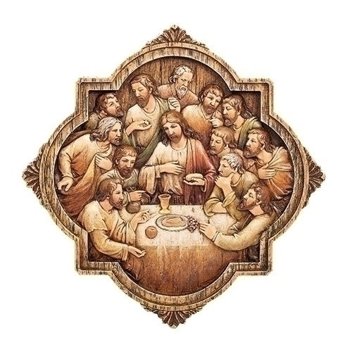"Last Supper Wall Plaque 10.25""H"
