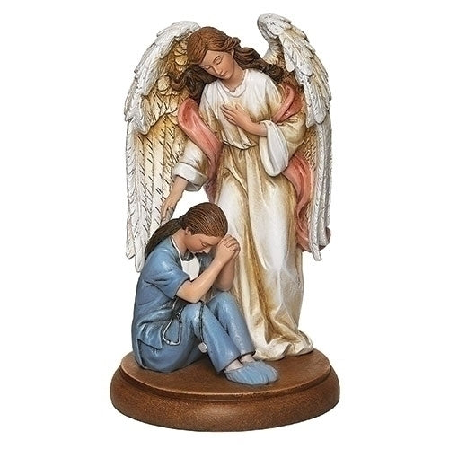 "Guardian Angel with Healthcare Worker 7.25""H"