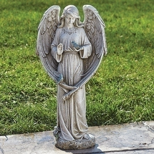 "Angel with Two Birds 20""H"