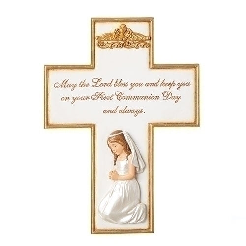 "COMMUNION GIRL CROSS 8.5""H"