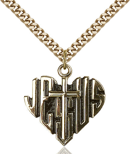 HEART of JESUS / CROSS                   6042GF/24G