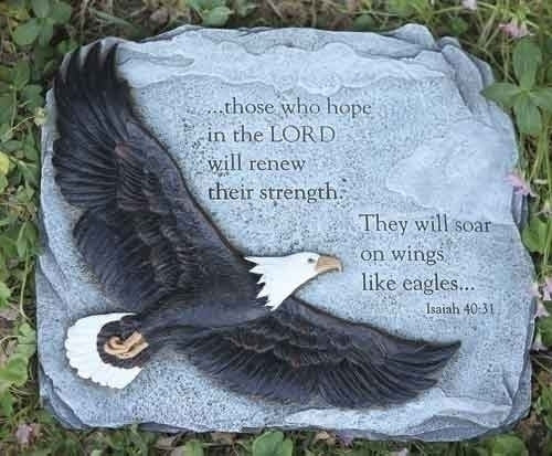 "11""H EAGLES WINGS GARDEN STONE"