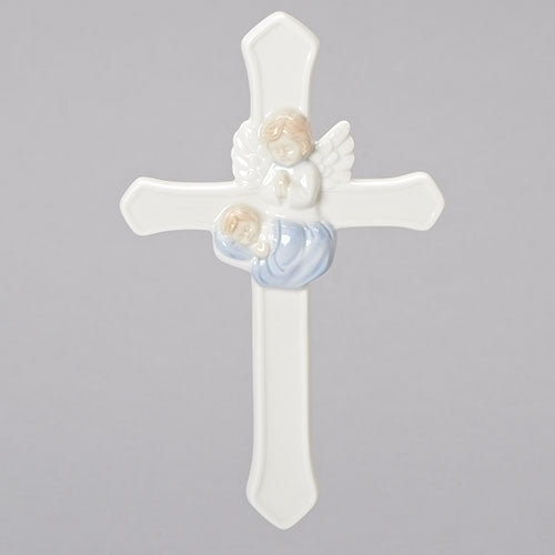"Valencia Boy Guardian Angel Wall Cross 7""H"