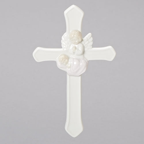 "Valencia Girl Guardian Angel Wall Cross 7""H"