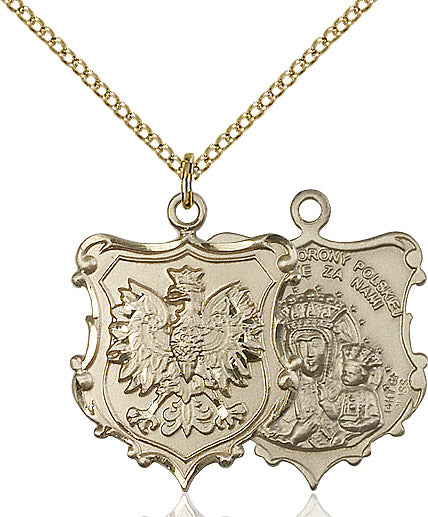 Our Lady of Czestochowa Necklace Gold Filled 18""