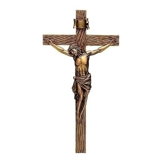 "Antique Gold Crucifix 8.5""H"