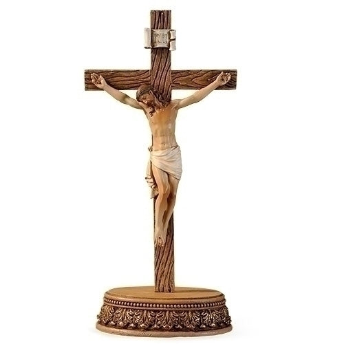 "Crucifix with Stand 2 pc set 8.5""H"