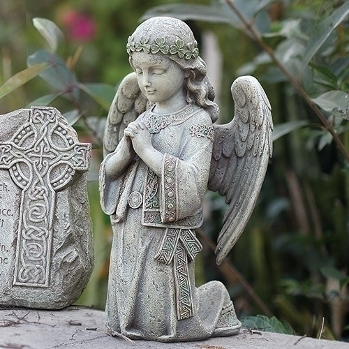 "ANGEL - 12.25""H CELTIC KNEELING ANGEL"