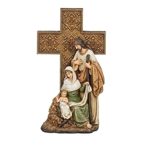 "Holy Family on Cross Base 10""H"