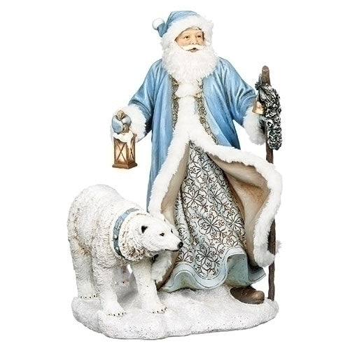 "SANTA - 16"" LED SANTA /POLAR BEAR FIG"
