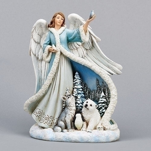 ANGEL W/ANIMALS FIGURE 7.5""