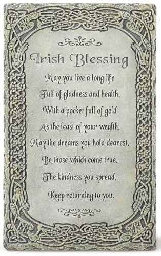 "Irish Blessing Wall Plaque 8""H"