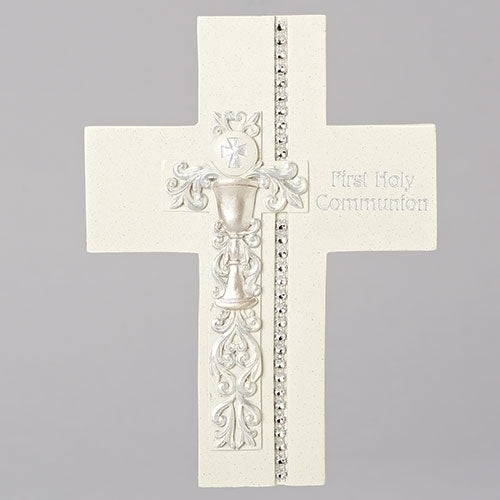 "WALL CROSS - COMMUNION 7.5""H"