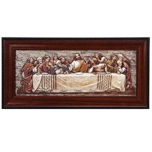 "7""H LAST SUPPER PLAQUE W/FRAME"