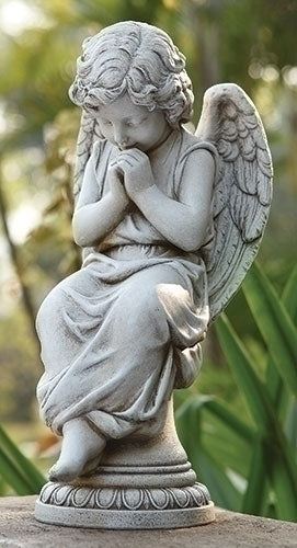 "Angel Seated on Pedestal 17""H"