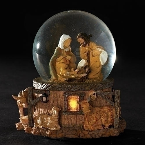 "MUSICAL LED HOLY FAMILY 5.7""H"