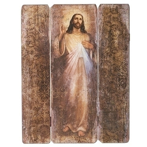 "DIVINE MERCY DECORATIVE PANEL 26""H"