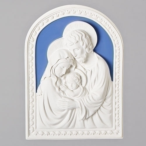 "HOLY FAMILY WALL PLAQUE 7.5""H"