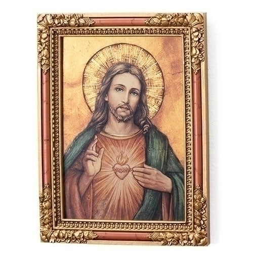 "Sacred Heart Icon Plaque 7.25""H"