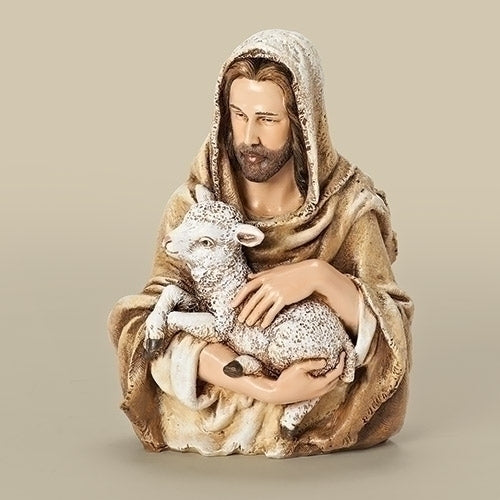 "Jesus with Lamb Bust 6.75""H"