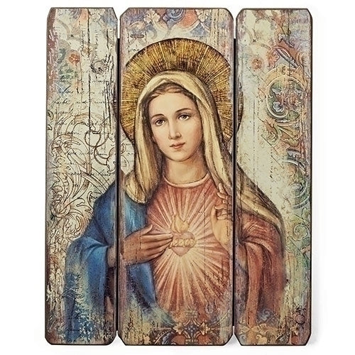 "Immaculate Heart Decorative Panel 15""H"