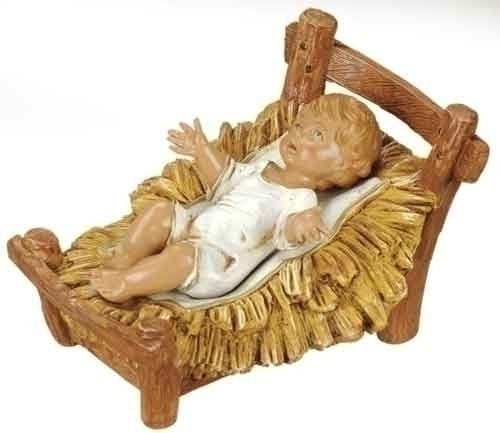 "BABY JESUS - 12"" SCALE INFANT W/MANGER"