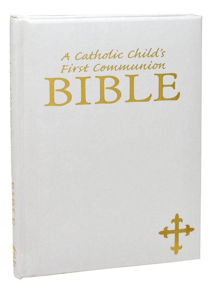 A Catholic Child's First Communion Bible - White