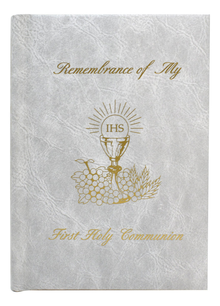 Remembrance Of My First Holy Communion-Girl-White Edges Marian Children's Mass Book