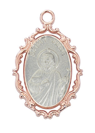 Jude - St Jude Medal - Rose-Gold over Sterling