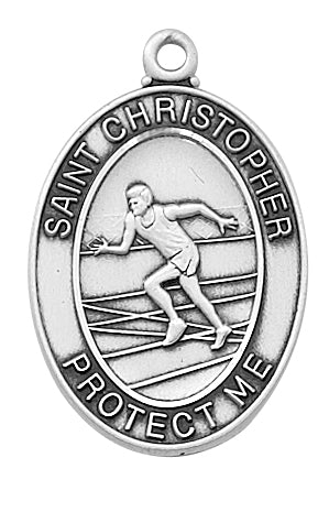 Boys Track Medal - Sterling Silver