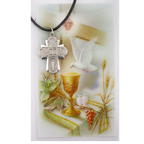 Necklace - 4-way Pendant with Holy Card Bagged