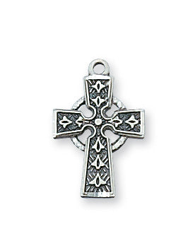 Celtic Cross Necklace - Sterling Silver