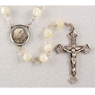 Rosary - Genuine Mother of Pearl Rosary Boxed