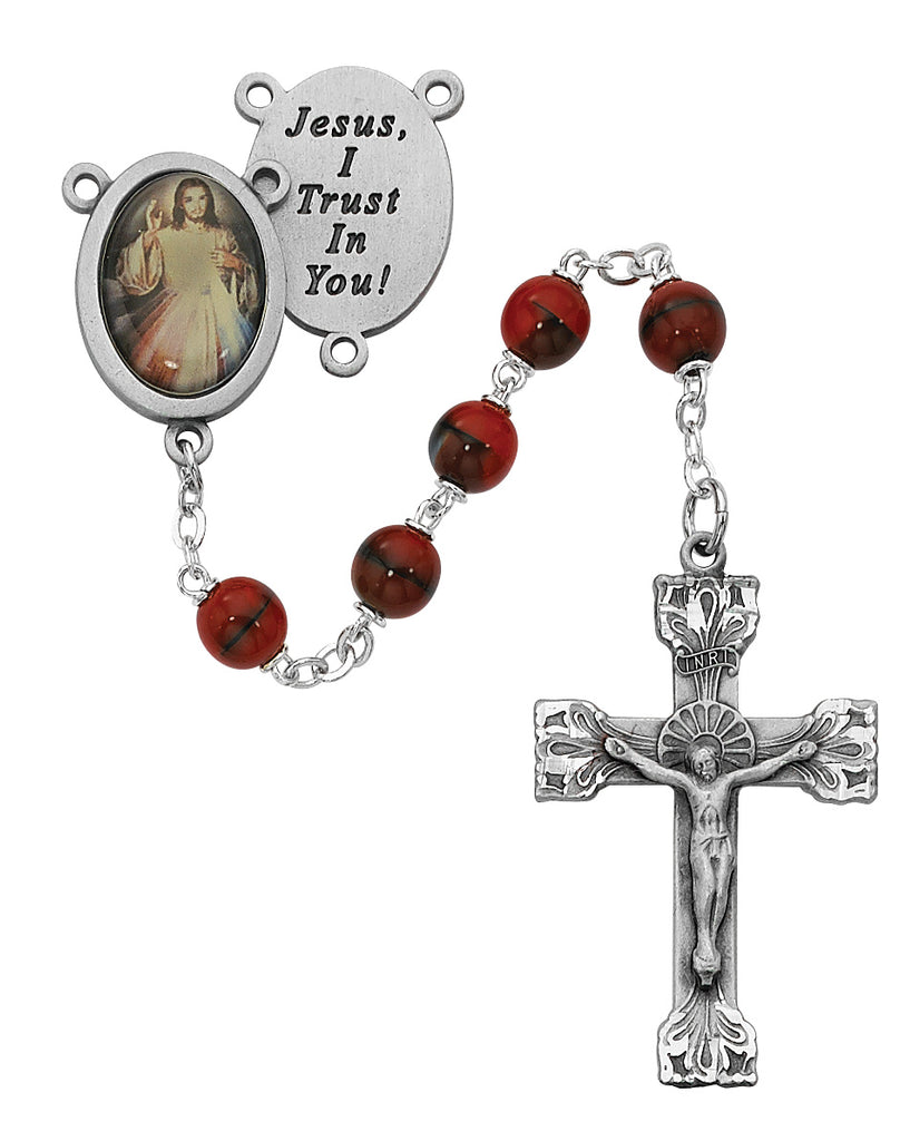 Rosary - Red and Black Boxed